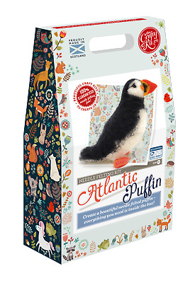 Atlantic Puffin Needle Felting Craft Kit by The Crafty Kit Company
