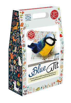 British Birds Blue Tit Needle Felting Kit by The Crafty Kit Company