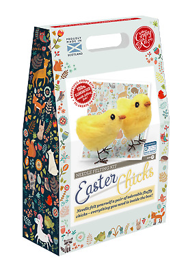 Easter Chicks Needle Felting Kit by The Crafty Kit Company