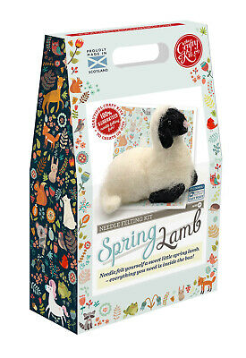 Spring Lamb Needle Felting Kit by The Crafty Kit Company
