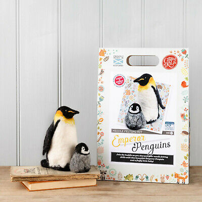 Emperor Penguins Needle Felting Kit by The Crafty Kit Company