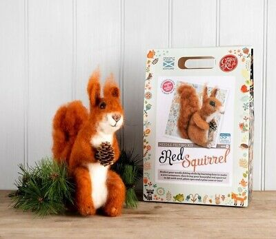 Red Squirrel Needle Felting Kit by The Crafty Kit Company