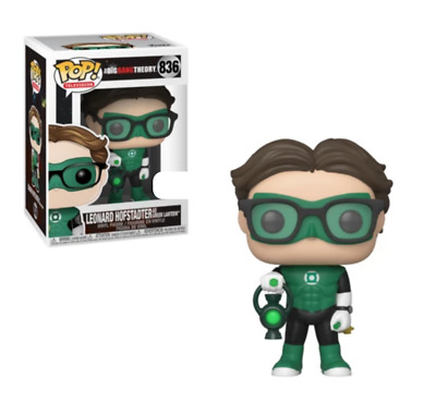 Funko Pop Leonard Green Lantern #836 Big Bang Theory SDCC Exclusive Blemished