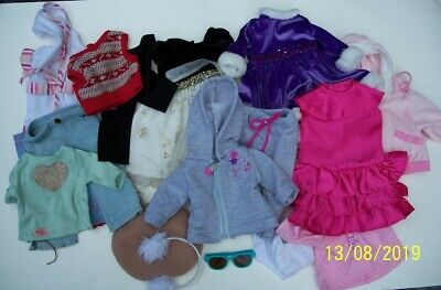 LOT Doll Clothes To Fit American Girl Dolls 18 Inch Clothing - Dresses, Panties,