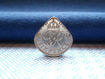 Genuine UK Sixpence Coin Pick.Acoustic / Electric Guitars. King george VI...