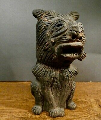 """Antique Large Pre Columbian Dog ~ 8 1/2"""" tall- Antique store purchase 1961 S.F"""