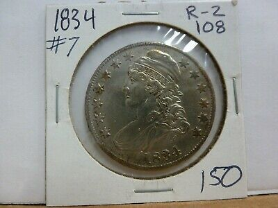 1834 Capped Bust Silver Half Dollar #7