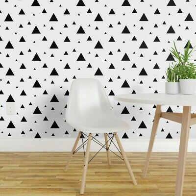 Gold Gray Black And White Chic Geometric Triangle Peel And
