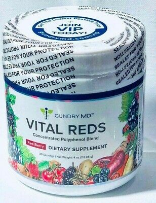 NEW Sealed VITAL REDS Dr. Gundry MD Concentrated 4oz Red Berry Polyphenol Blend