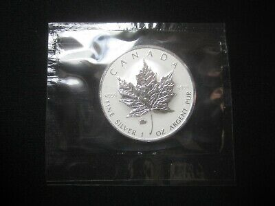 "2009 1 oz.9999 Canadian Silver Maple Leaf Coin ""Ox privy mark ""cellophane sealed"