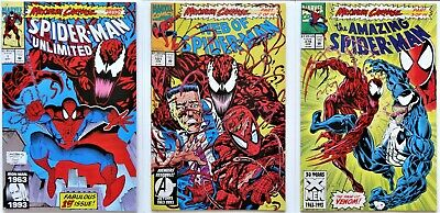 Spider-Man Unlimited 1 - WOS 101 - Amazing Spiderman 378 - Max CARNAGE p.1-3, NM