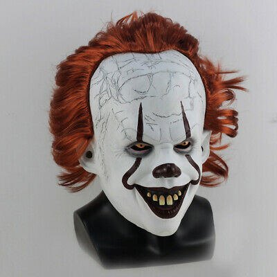 Joker Pennywise Mask Stephen King It Chapter Two 2 Cosplay Latex Scary Prop USA