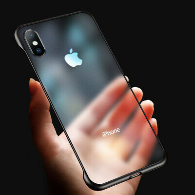 Ultra Thin Frameless Case Fr iPhone 11 Pro 8 Plus XS Max Transparent Matte Cover