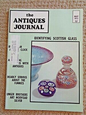 1973 Antiques Journal Unger Brothers Art Nouveau Silver Paul Ysart Paperweights