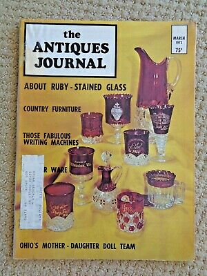 Antiques Journal Typewriters Ruby Cut Glass Tin Tobacco Tags Sharon Johnson Doll