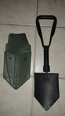 """US Military Surplus Folding Entrenching Tool with """"ALICE"""" Vinyl Shovel Cover"""