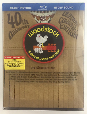 Woodstock: Three Days of Peace  Music (Blu-ray, 2009, Directors Cut) RARE BOXSET