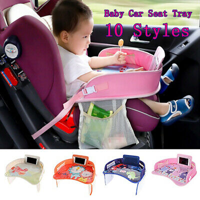 UK Kid Baby Safe Waterproof Snack Car Seat Table Play Travel Tray Drawing Board