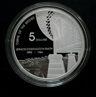 2007 Australia Curve of the Bridge by Smith 1oz Silver (99.9%) Proof $5 coin