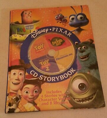 2002 Disney PIXAR CD Storybook for Toy Story I & II, Monsters INC & A Bugs Life