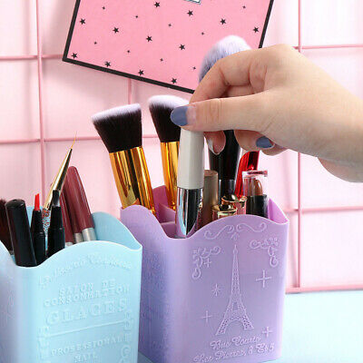 4 Compartments Organizer Pen Holder Storage Box PP Nail Art Tool Eiffel Tower
