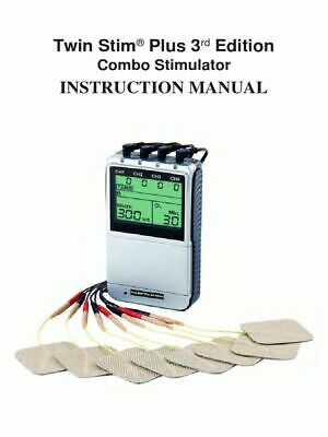 Twin Stim Plus 3rd Combo Quad Channel TENS Unit and EMS with AC Adapter-DS5402