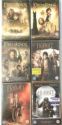 Lord of the Rings - Hobbit 6 Movies Middle Earth Set Brand New Sealed R2 UK DVD