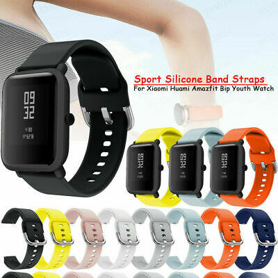 For Xiaomi Huami Amazfit Bip Youth Silicone Watch Band 20mm Sport Bracelet Strap