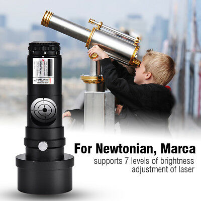 """1.25"""" Laser Collimator 2"""" Adapter 7 Bright Levels for Newtonian Telescopes Black"""