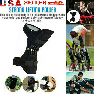 Power Knee Stabilizer Pads Powerful Rebound Spring Force Support Knee Pa US