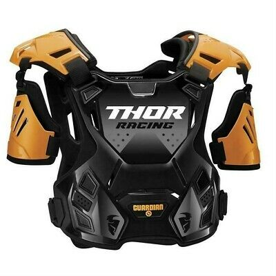 Thor Guardian Motocross Chest Protector Body Armour with Arm Guards Orange Adult