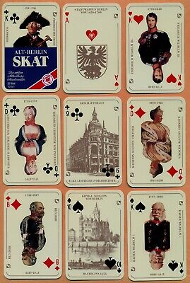 Alt-Berlin. Skat. Juego de naipes/Playing Cards/Jeu de cartes/Spielkarten