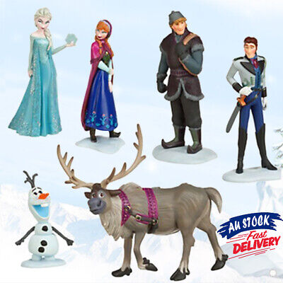 6x Figure Anna Elsa Doll Sven Figurine Topper Toy Loose Olaf Cake Frozen