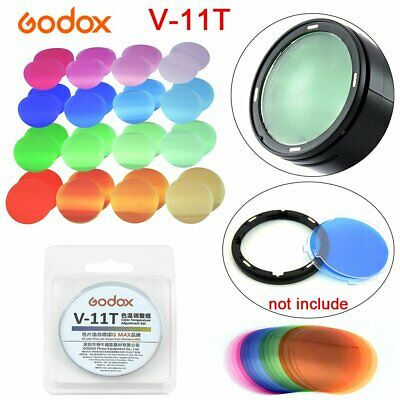 Godox V-11T Color Filters 16 Different Colors *2 for Godox V1 Round Head Flashes
