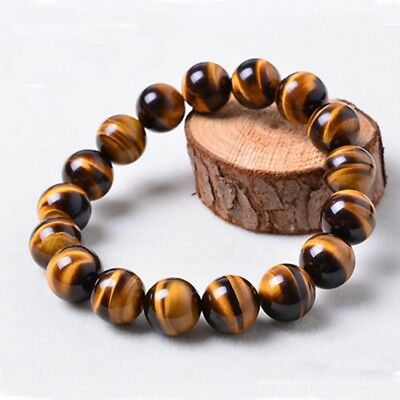8mm Natural African Roar Natural Tiger's Eye stone Round Beads bracelet Fashion