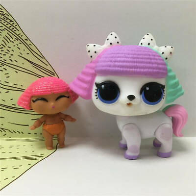 LOL Surprise Pets Doll Animals PUPSTA PUPPY DOG +Lil Sister Glitter Queen Baby
