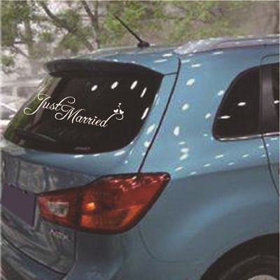 New Hot Just Married Wedding Car Cling Decal Sticker Window Banner Decor #H5