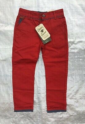 """Bnwt Boy's """" Ted Baker """" Red Chino Trousers - 6 Years  !"""