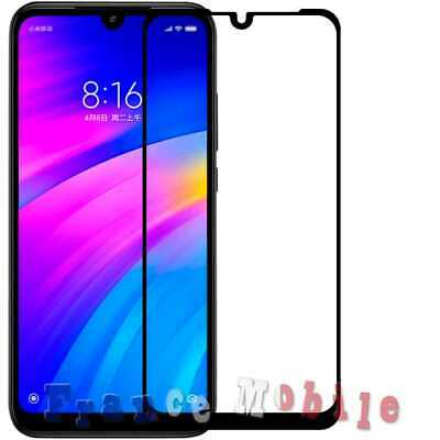 Full Film Cover Tempered Glass 9H 9D Curved Screen Protector for Redmi 7 Black
