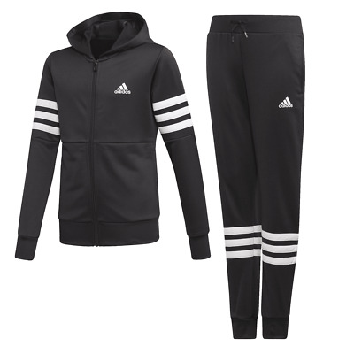 Adidas Youth Girls Hooded PES Tracksuit