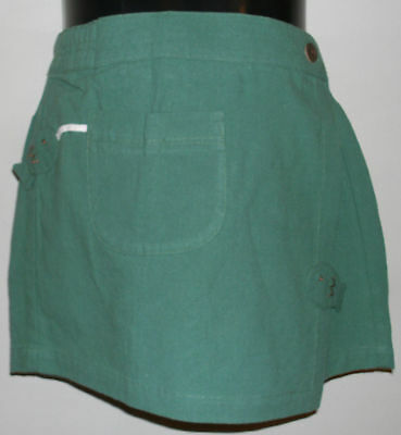 New 100% Cotton Girls Green Fashion Skort Skirt Shorts Size Small 4-6 Years