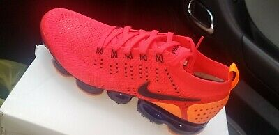 (AR5406 600) Nike Air Vapormax Flyknit 2 Red/Obsidian Size 10.5 Mens