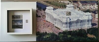 Christo Javacheff: Wrapped Reichstag, 1995 / CANVAS and COLLAGE