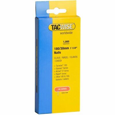1000X Tacwise 20MM  25mm 30mm 35mm 40mm Brad Nails 18 Gauge 18g 180 Galvanised