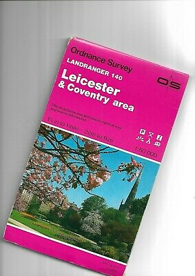 """OS 1.25"""" Landranger Series Map LEICESTER-COVENTRY 140 1988"""