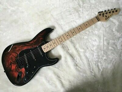 Special Fire Tribal Strat Shape Electric guitars Limited and Rare Edition