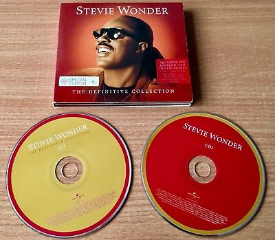 STEVIE WONDER The Definitive Collection Double Gate-Fold CD & Booklet 29 Tracks
