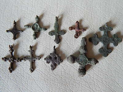 Lot of Ancient Vikings Bronze Cross Pendant.