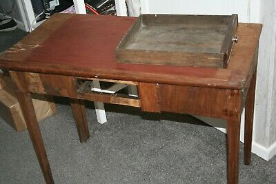 victorian antique hall/card table in need of total restoration