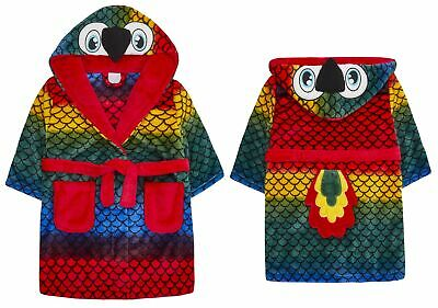 Childrens / Boys / Girls Novelty Parrot Dressing Gown with Tail ~ 2-6 Years
